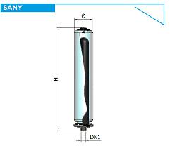 Гидроаккумуляторы Elbi SANY cо сменной мембраной