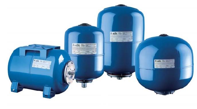 Гидроаккумуляторы Elbi AS/AC со сменной мембраной для систем водоснабжения