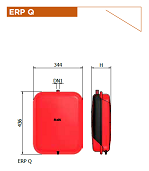 Плоские прямоугольные расширительные баки Elbi ERP
