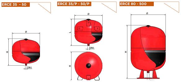 Расширительные баки Elbi ER-CE 35