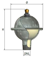 Мембранный аммортизатор гидроудара ELBI
