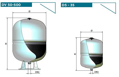 Многофункциональные баки ELBI D-DV (5-500л)