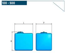 Полиэтиленовые баки прямоугольной формы ELBI СB 100